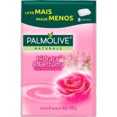 Sabonete Hidrata & Perfuma Palmolive Naturals 8un 85g