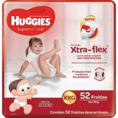 Fralda Supreme Care Hiper XXG 52un Huggies
