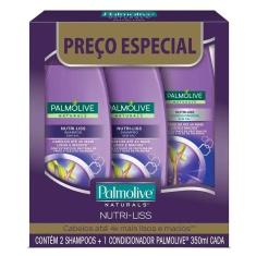 Shampoo e Condicionador Palmolive Naturals Nutri-Liss 350ml Leve 2 Shampoos + 1 Condicionador