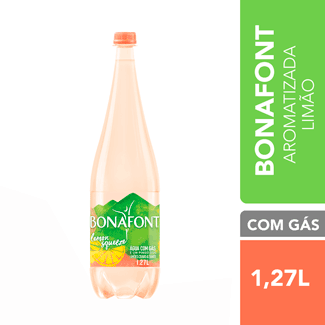 Água Mineral com Gás Lemon Squeeze Bonafont 1,27L