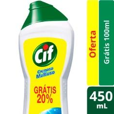 Limpador Cremoso Branco Cif 450ml Grátis 20%