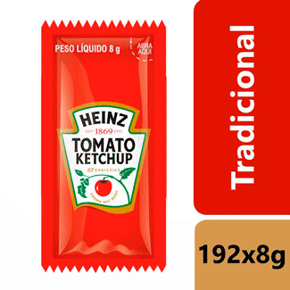 Ketchup Tradicional Heinz 192x8g