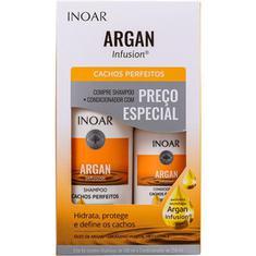 Kit Shampoo + Condicionador Argan Infusion Cachos Perfeitos Inoar 500+250ml