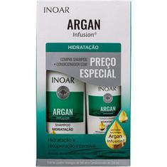Kit Shampoo + Condicionador Argan Infusion Hidratação Inoar 500+250ml