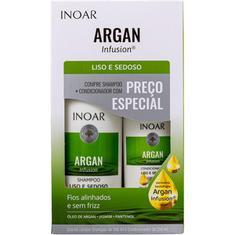 Kit Shampoo + Condicionador Argan Infusion Liso e Sedoso Inoar 500+250ml