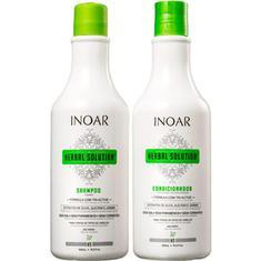 Kit Shampoo + Condicionador Herbal Solution Inoar 500ml