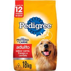 Alimento Para Cães Sabor Carne, Frango e Cereais Pedigree 18kg