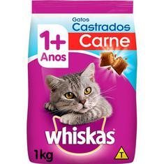 Alimento Para Gatos Castrados Sabor Carne Whiskas 1kg