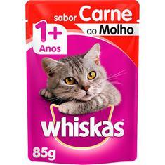 Alimento Para Gatos Castrados Sachê Sabor Carne ao Molho Whiskas 85g