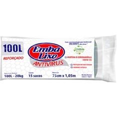 Saco de Lixo Rolo Antivírus Embalixo 100L c/ 15un