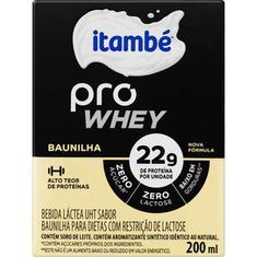 Bebida Láctea sabor Baunilha Pro Whey Itambé 200ml