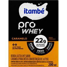 Bebida Láctea sabor Caramelo Pro Whey Itambé 200ml