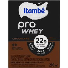 Bebida Láctea sabor Chocolate Pro Whey Itambé 200ml