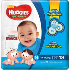 Fraldas Tripla Proteção Jumbo M Huggies 18un.