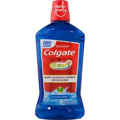 Enxaguante Bucal Antibacteriano Clean Mint Colgate Total 12 1L