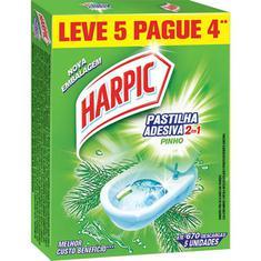 Pastilha Sanitária Adesiva Pinho 2 em 1 Harpic Leve 5 Pague 4un.
