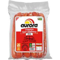Linguiça Calabresa Reta Aurora Kg Pct c/ 3 kg