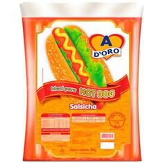 Salsicha Hot Dog Adoro kg Pct. c/ 3 kg