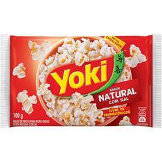 Milho de Pipoca Para Micro-Ondas Natural com Sal Yoki 100g