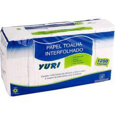 Papel Toalha Interfolhado Yuri 2 Dobras 1250 Unidades