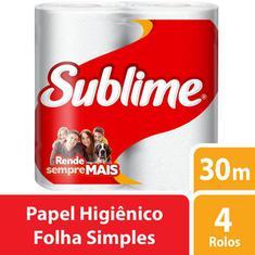 Papel Higiênico Sublime Folha Simples 4X30m