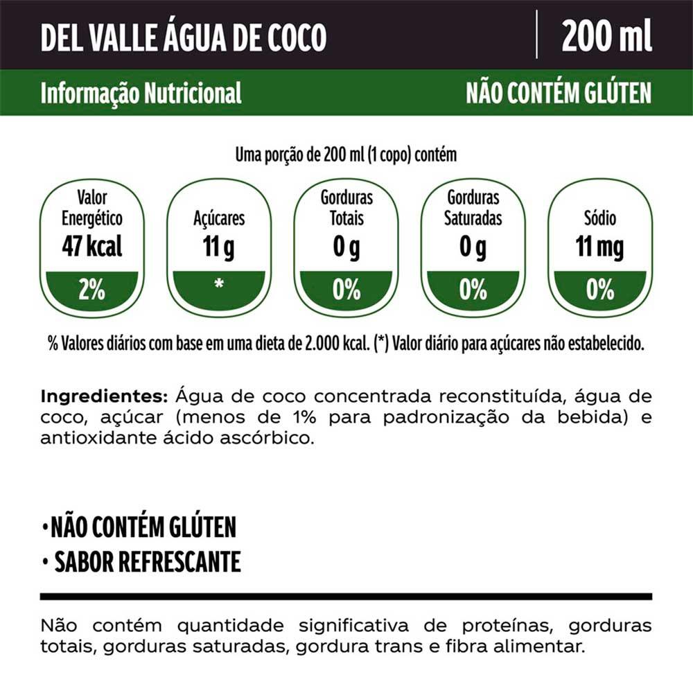 Água de Coco Del Valle 200ml item 1