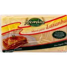 Massa para Lasanha Fresca Aricanduva 1kg