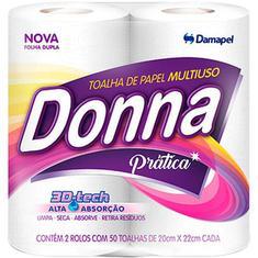 Toalha de Papel Folha Dupla Donna c/ 2un.