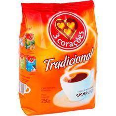 Café Tradicional 3 Corações 250g
