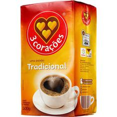 Café Tradicional a Vácuo 3 Corações 500g