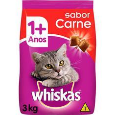 Ração para Gatos sabor Carne Whiskas 3kg