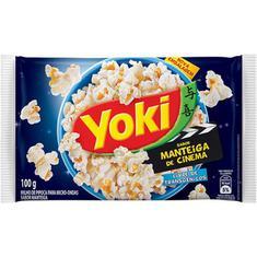Milho de Pipoca Para Micro-Ondas sabor Manteiga de Cinema Yoki 100g