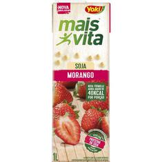 Bebida de Soja Mais Vita Sabor Morango Yoki 1L