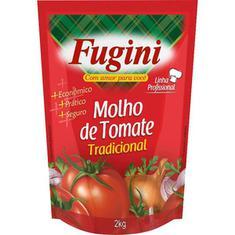 Molho de Tomate Tradicional Fugini 2kg