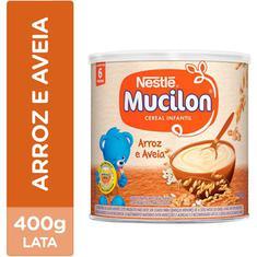 Cereal Infantil de Arroz e Aveia Mucilon 400g