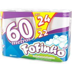 Papel Higiênico Fofinho Folha Simples  L24P22 60m
