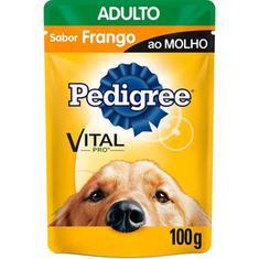 Alimento para Cães sabor Frango ao Molho Sachê Pedigree 100g