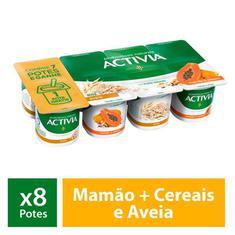 Leite Fermentado Activia Mamão e Cereais 800g