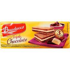 Biscoito Wafer Sabor Triplo Chocolate Bauducco 140g