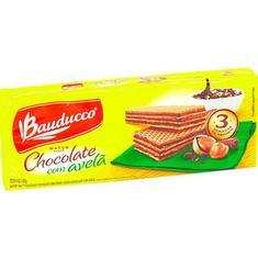 Biscoito Wafer Sabor Chocolate e Avelã Bauducco 140g