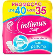 Protetor Diário Intimus Days sem Perfume L40P35un