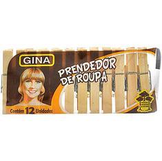 Prendedor de Roupa Gina Madeira 1901 12un