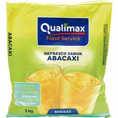 Refresco em Pó Sabor Abacaxi Qualimax 1kg