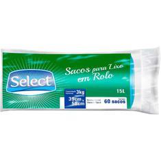 Saco para Lixo Select 60un 15L