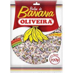 Bala Banana Oliveira 700g