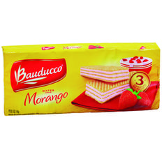 Biscoito Wafer Sabor Morango Bauducco 140g