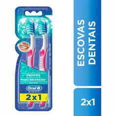 Escova Dental 3D White Advantage 3 em 1 Oral-B 2 unidades