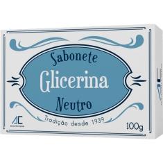 Sabonete em Barra Glicerina Neutro Augusto Caldas 100g