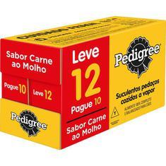 Alimento para Cães sabor Carne ao Molho Sachê Pedigree Leve 12 Pague 10