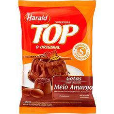 Cobertura Chocolate Harald Top Gotas Meio Amargo 1,050Kg